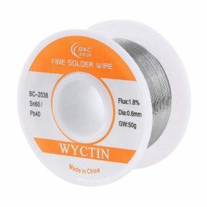 Wyctin's 60/40 Tin Lead Rosin Core Solder Wire