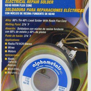 Alpha Fry AT-31604 60-40 Rosin Core Solder