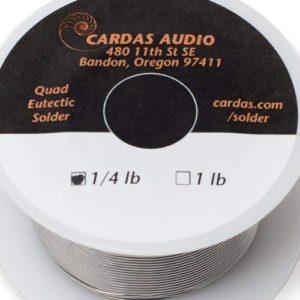 Cardas Soldering Wire Quad Eutectic Silver Solder