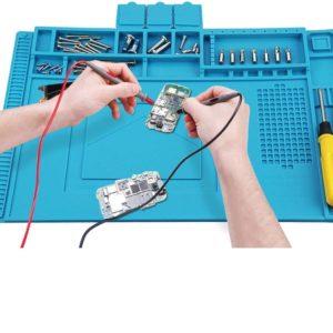 Anti-Static Insulation Silicone Soldering Mat Welding Pad Repair Tool Kit Heat-resistant