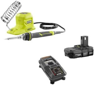 Ryobi 18-Volt ONE+ 40-Watt Soldering Iron P3105 with Battery and Charger Kit